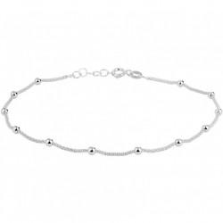 Zilver gerhodineerd enkelbandje - 10031175