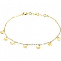 Goud geel op Zilver enkelbandje - 10031193