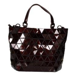 Malique Geometrical handtas bruin 1008 - 4001206