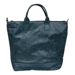 Malique Waxed Paperbag handtas blauw 1047 - 4001443