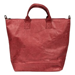 Malique Waxed Paperbag shopper rood 1053 - 4001436