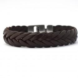 Josh 6 strengen gevlochten armband Brown 24001 - 4001135