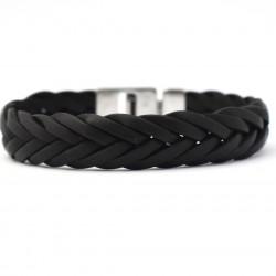 Josh 6 strengen gevlochten armband Black 24001 - 4001137