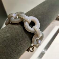 Camps & Camps armband - schakel grijs/beige - 4001630