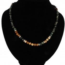 Robijn collier, Heren Jaspis Kamballa Karabijnslot - 4002658