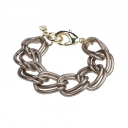 Camps & Camps armband - Bronze double gourmet chain - 4001706