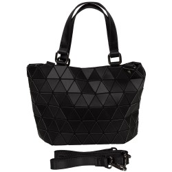 Malique Geometrical handtas klein mat zwart 857 - 4001260