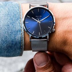 Kane horloge BA12001SS, blue arctic silver mesh - 4001813
