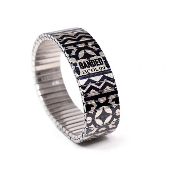Banded Amsterdam armband Regular, Compas Ster, maat M - 4001730
