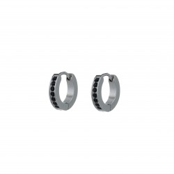 GoDutchLabel E0432-4 - Oorsieraad staal, creool - 4001313