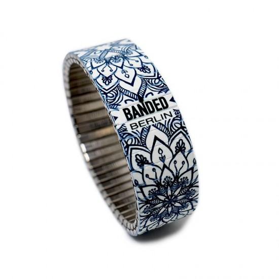 Banded Amsterdam armband Regular, La Flor Azul, Maat XL - 4001770
