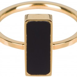 Charmins ring Goud staal Fashion seal rectangle maat 18 R537 - 4001647