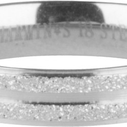 charmins ring double sanded steel, Maat 18 - 4002069