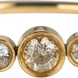 Charmins ring Goud staal Crystal triplets maat 18 R825 - 4001644