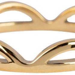 Charmins ring Goud staal Peaks combi opengewerkt maat 18 R843 - 4001660
