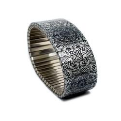 Banded Amsterdam armband Kingsize, Zilveren Theekopjes, Maat XL - 4001759